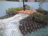 園庭の池とポンプ