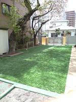 園庭の芝生