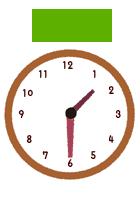 1時半時計イラスト